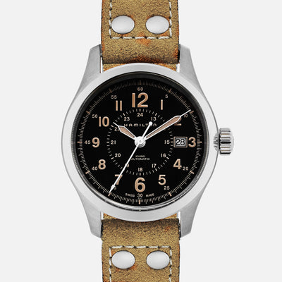 Hamilton Khaki Field Automatic 40mm Black Dial On Strap