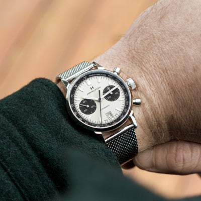 Hamilton Intra-Matic Auto Chrono 'Panda' Dial On Bracelet alternate image.