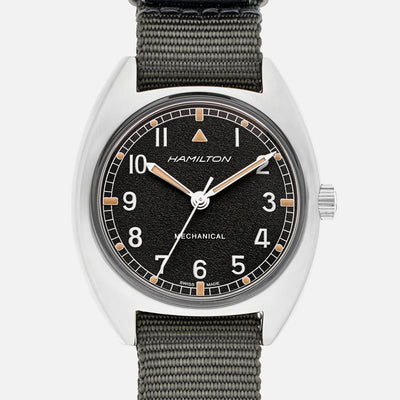 Hamilton Khaki Pilot Pioneer Mechanical On Grey NATO Strap