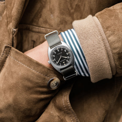 Hamilton Khaki Pilot Pioneer Mechanical On Grey NATO Strap alternate image.