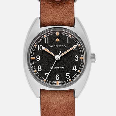 Hamilton Khaki Pilot Pioneer Mechanical On Leather Strap