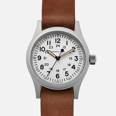 Hamilton Khaki Field Mechanical 38mm White Dial
