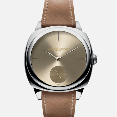 Laurent Ferrier Galet Square Micro-Rotor With Sunburst Gold-Tone Dial