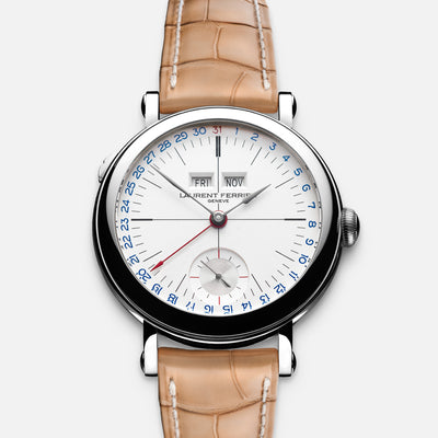 Laurent Ferrier Galet Annual Calendar Montre École With White Opaline Dial alternate image.