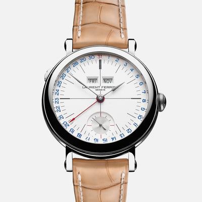 Laurent Ferrier Galet Annual Calendar Montre École With White Opaline Dial