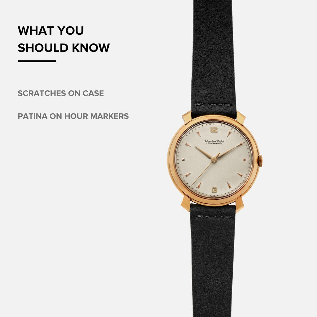 1960s IWC Dress Watch In 18k Yellow Gold