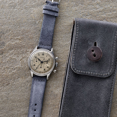 Slate Blue Suede Watch Strap alternate image.