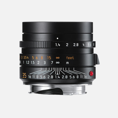 Leica SUMMILUX-M 35mm f/1.4 ASPH. Camera Lens In Black