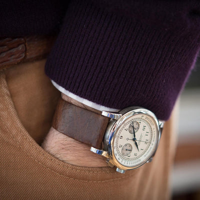 GJ Cleverley For HODINKEE Russia Leather Strap alternate image.