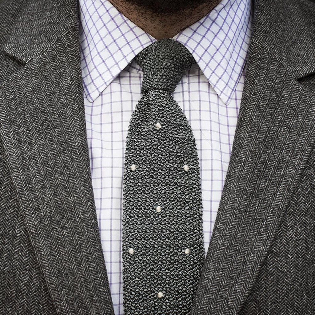 Drake's For HODINKEE Tie - Grey