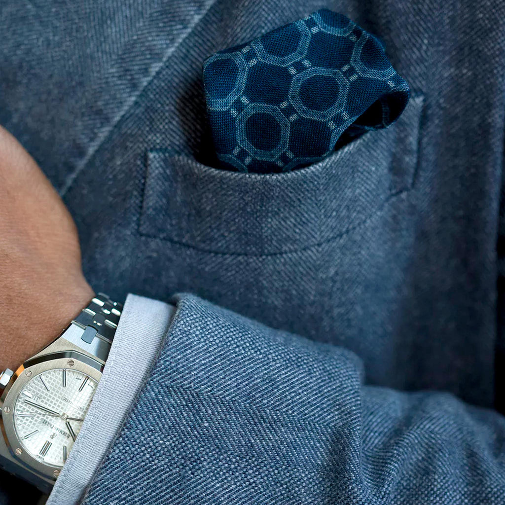 Drake's For HODINKEE Genta Pocket Square