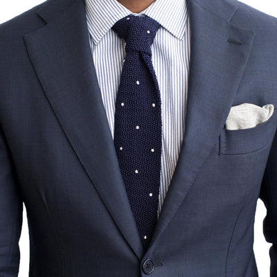Drake's For HODINKEE Tie - Navy alternate image.