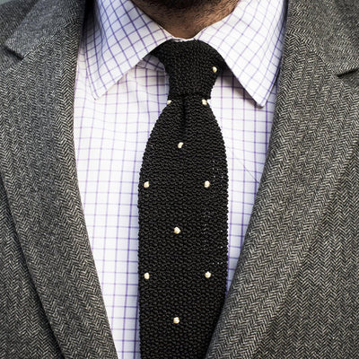 Drake's For HODINKEE Tie - Black alternate image.