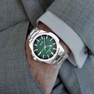 NORQAIN Independence 20 'Scratched Forest Green' Dial On Bracelet Limited Edition alternate image.