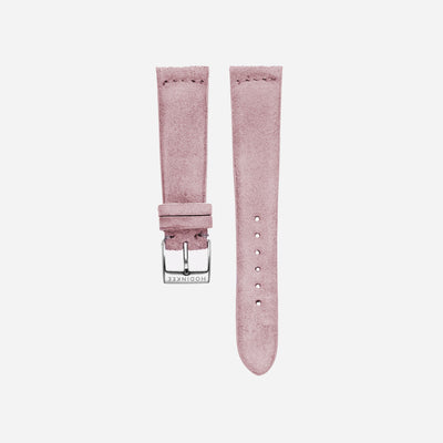 Pale Pink Suede Watch Strap