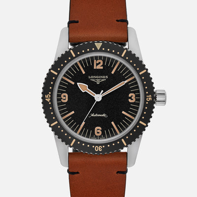 Longines Heritage Skin Diver On Leather Strap