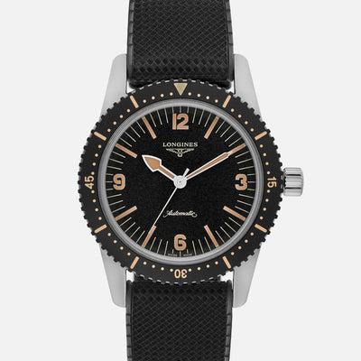 Longines Heritage Skin Diver On Rubber Strap