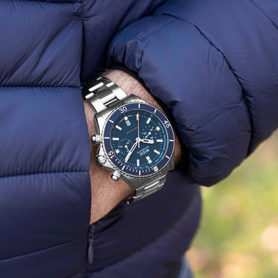 Mido Ocean Star Chronograph Titanium With Blue Dial alternate image.