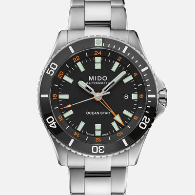 Mido Ocean Star GMT Black Dial On Bracelet