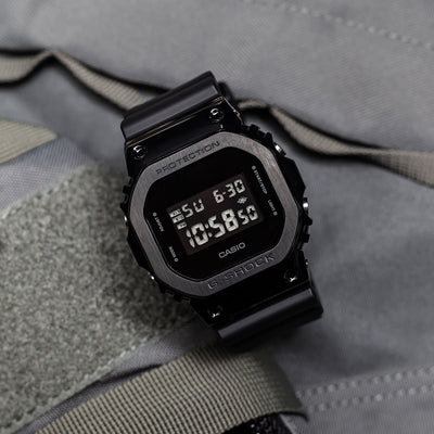 G-SHOCK GM5600B-1 With Black IP-Coated Stainless Steel Bezel And Resin Strap alternate image.
