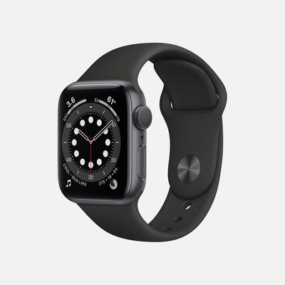 Apple Watch Series 6 GPS + Cellular Space Gray Aluminum Case 40mm With Black Sport Band alternate image.