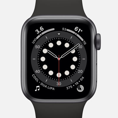 Apple Watch Series 6 GPS + Cellular Space Gray Aluminum Case 40mm With Black Sport Band