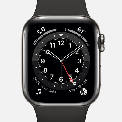 Apple Watch Series 6 GPS + Cellular Graphite Stainless Steel Case 40mm With Black Sport Band