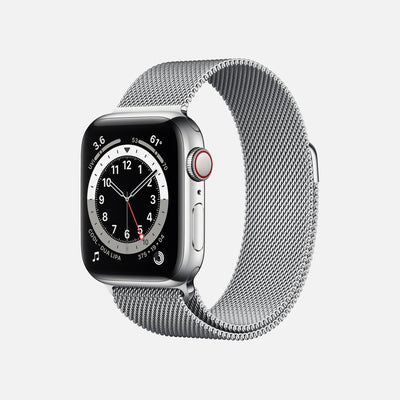 Apple Watch Series 6 GPS + Cellular Silver Stainless Steel Case 40mm With Silver Milanese Loop alternate image.