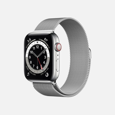 Apple Watch Series 6 GPS + Cellular Silver Stainless Steel Case 44mm With Silver Milanese Loop alternate image.