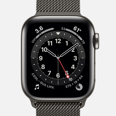 Apple Watch Series 6 GPS + Cellular Graphite Stainless Steel Case 40mm With Graphite Milanese Loop