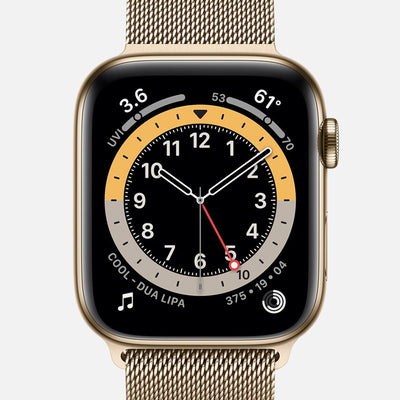 Apple Watch Series 6 GPS + Cellular Gold Stainless Steel Case 44mm With Gold Milanese Loop