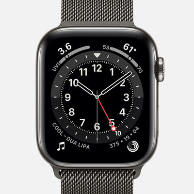 Apple Watch Series 6 GPS + Cellular Graphite Stainless Steel Case 44mm With Graphite Milanese Loop