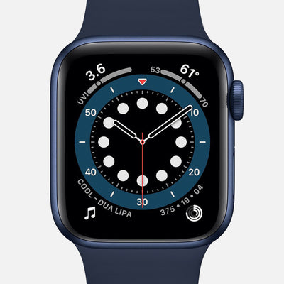 Apple Watch Series 6 GPS + Cellular Blue Aluminum Case 40mm With Deep Navy Sport Band
