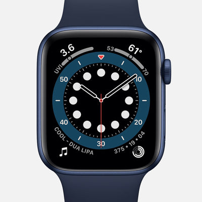 Apple Watch Series 6 GPS + Cellular Blue Aluminum Case 44mm With Deep Navy Sport Band