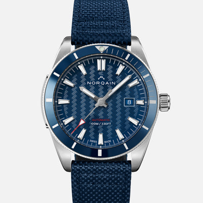 NORQAIN Adventure Sport Automatic Blue Dial On Nordura Fabric Strap