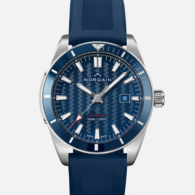 NORQAIN Adventure Sport Automatic Blue Dial On Rubber Strap