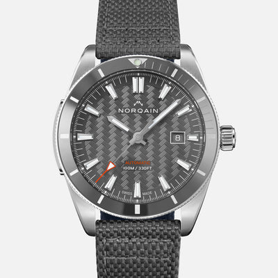 NORQAIN Adventure Sport Automatic Grey Dial On Nordura Fabric Strap
