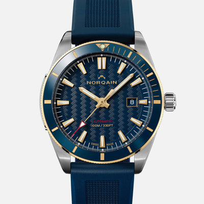 NORQAIN Adventure Sport Automatic Two-Tone Limited Edition With Blue Dial On Rubber Strap alternate image.