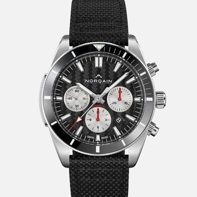 NORQAIN Adventure Sport Chronograph Black Dial On Nordura Fabric Strap