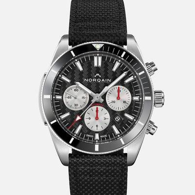 NORQAIN Adventure Sport Chronograph Black Dial On Nordura Fabric Strap alternate image.