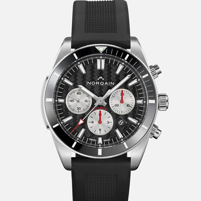NORQAIN Adventure Sport Chronograph Black Dial On Rubber Strap