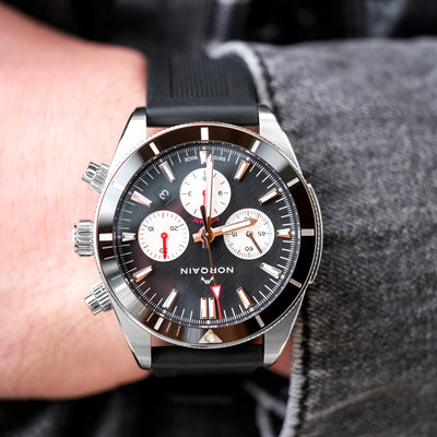 NORQAIN Adventure Sport Chronograph Black Dial On Rubber Strap alternate image.