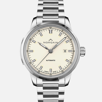 NORQAIN Freedom 60 Automatic Cream Dial On Bracelet
