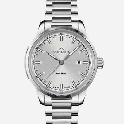 NORQAIN Freedom 60 Automatic Silver Dial On Bracelet