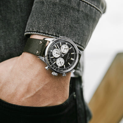 NORQAIN Freedom 60 Chronograph Black Dial On Leather Strap alternate image.