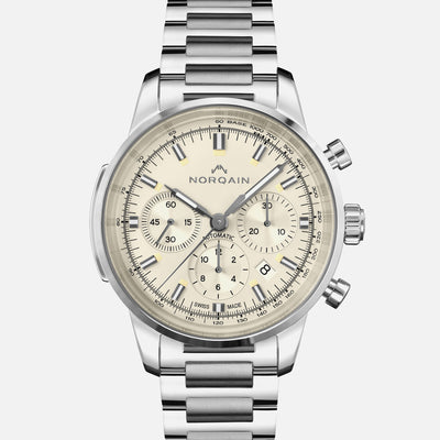 NORQAIN Freedom 60 Chronograph Cream Dial On Bracelet