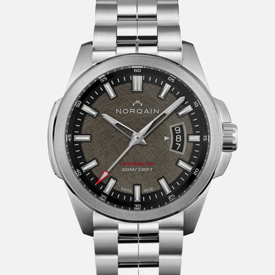 NORQAIN Independence 19 'Old Steel Finish' Dial On Bracelet Limited Edition