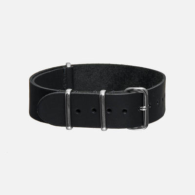 Black Kangaroo Single-Piece Watch Strap