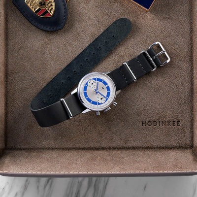 Black Kangaroo Single-Piece Watch Strap alternate image.