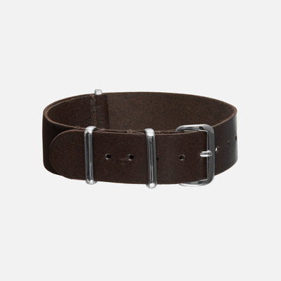 Dark Brown Kangaroo Single-Piece Watch Strap